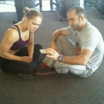 Ronda Rousey and Leo Frincu